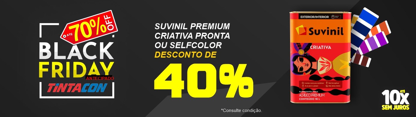 Black Friday Tintacon - Tinta Acrilica Premium Criativa - Suvinil