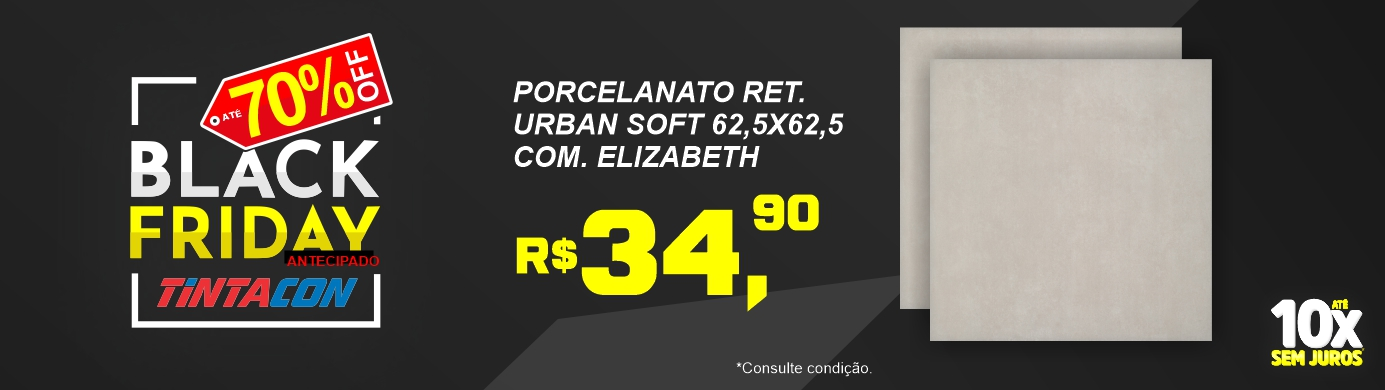 Black Friday Tintacon - Porcelanato Esmaltado Retificado URBAN SOFT 62,5X62,5