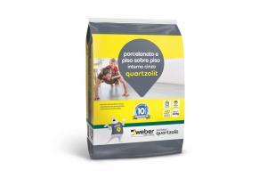 Argamassa Piso Sobre Piso Interno 20kg Cinza - Quartzolit