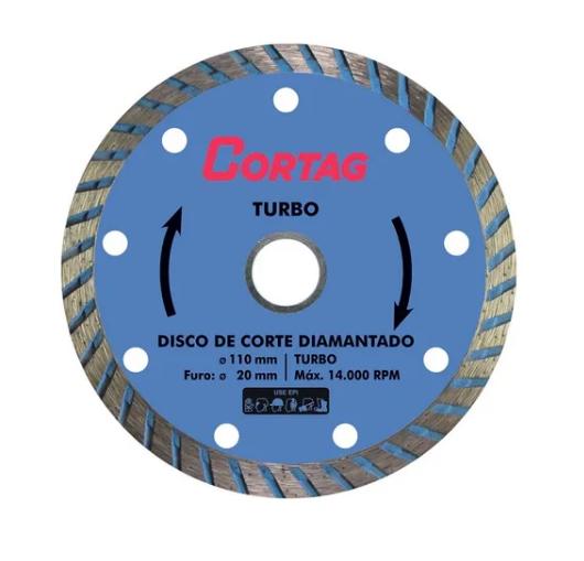Disco Diamantado Turbo 20x110mm - Cortag