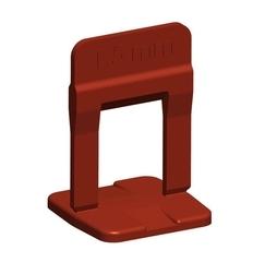 Nivelador de Piso 1,5mm Pacote 100UN Vermelho - Cortag