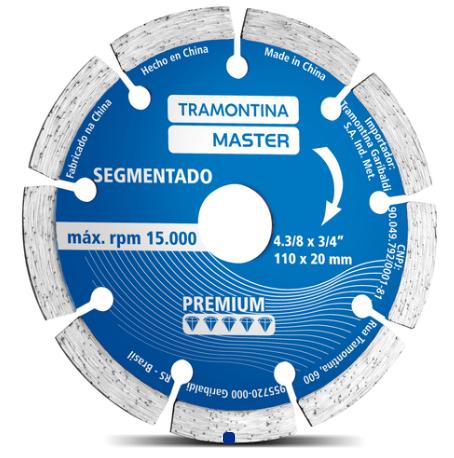 Disco Diamantado Corte Segmentado 4.3/8 42595/504 - Tramontina