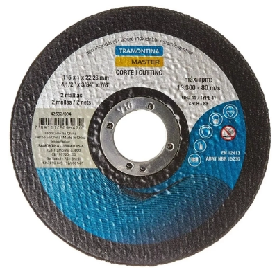 Disco de Corte Fino para Aço Inox 4.1/2 42592/004 - Tramontina