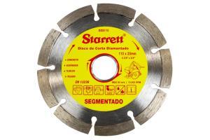 Disco de Corte Diamantado Segmentado 110mm - Starrett