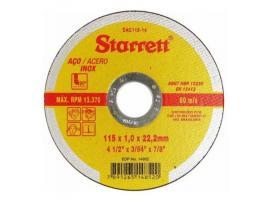 Disco Abrasivo de Corte 115x1x22,2cm - Starrett
