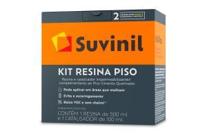Kit P Resina + Catalisador Piso Cimento Queimado 0,6Kg - SUVINIL