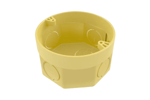 Caixa Octogonal 3x3 c/ Anel Deslizante Amarelo - Tigre
