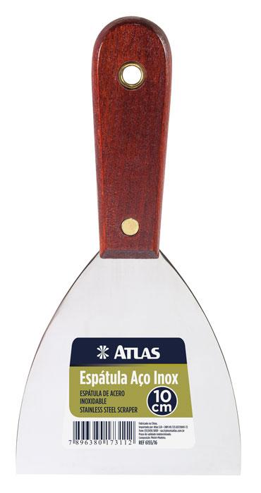 Espatula Aço Inox 10cm 6155/16 N16 - Atlas