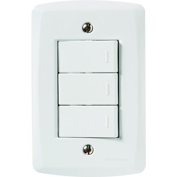 Interruptor Simples 3T 10A/250V Lux2 57145/070 - Tramontina