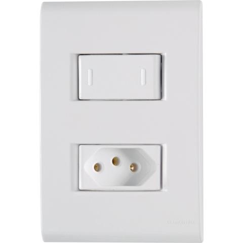 Interruptor paralelo C/PL Tom 2P+250V Liz 57170/050 Tramontina