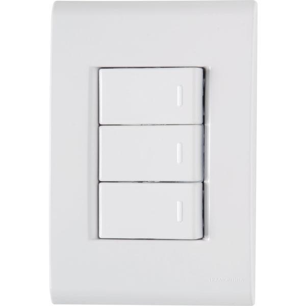 Interruptor Simples 3T 10A/250V Liz 57170/070 - Tramontina