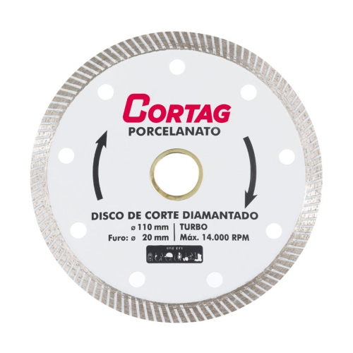 Disco Diamantado Porcelanato  Turbo CORTAG