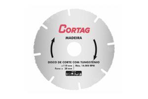 Disco de Corte Tungstenio para Madeira - Cortag
