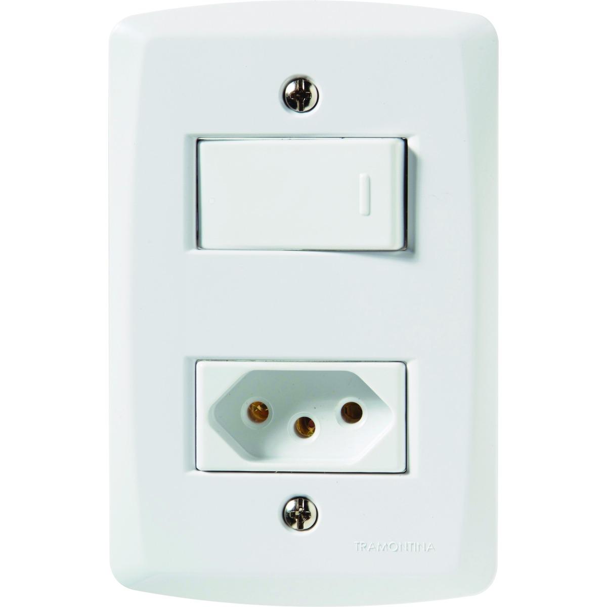 Interruptor Par/Tom 2P+T 10A/250V Lux2 57145/050 Tramontina