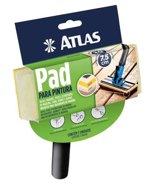 Pad Pintura c/ Cabo Plastico 20x7,5cm - Atlas