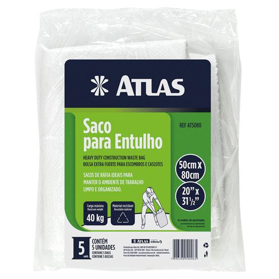 Saco p/ Entulho Rafia 40kg AT5080 - Atlas