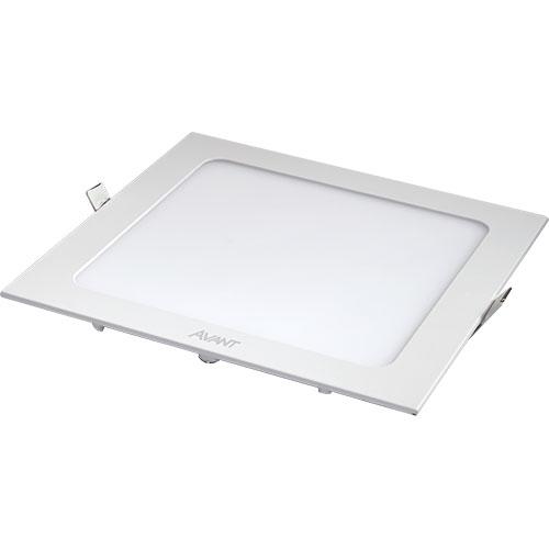 Luminária LED Embutir Downlight SLI Quadrada Bivolt 24W BR6500K - Avant