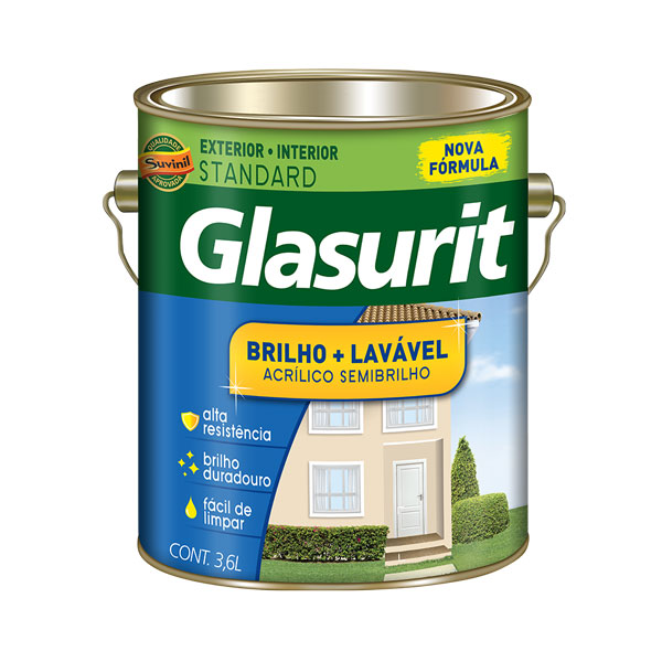 Tinta Acrilica Brilho + Lavavel 3,6L - Glasurit