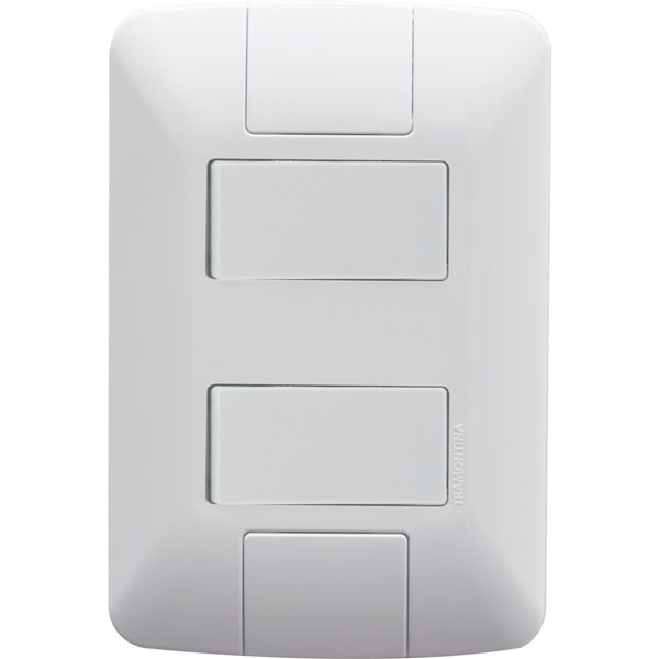 Interruptor Duplo Paralelo 6A 250V Aria 57241/041 - Tramontina