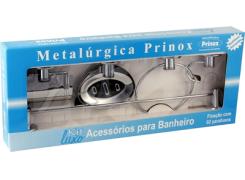Kit Acessorio Banheiro 5 Peças - Prinox