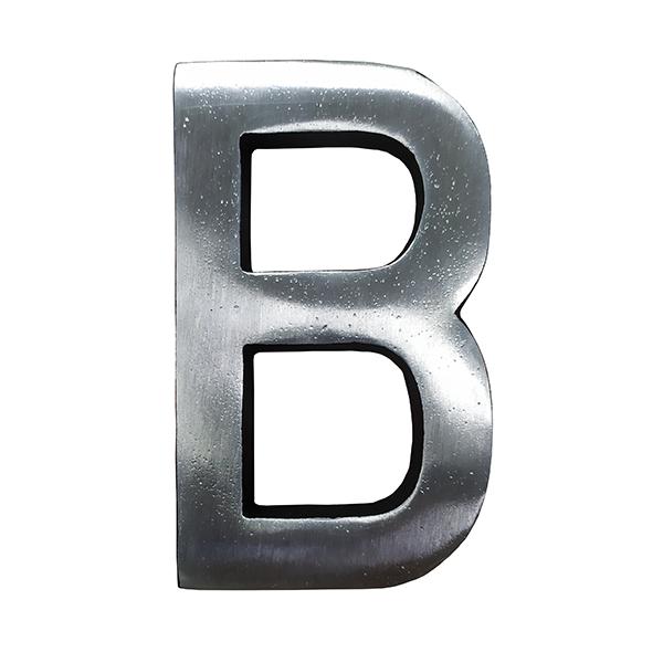 Letra de Alumínio Especial B 9cm - ALENCAR