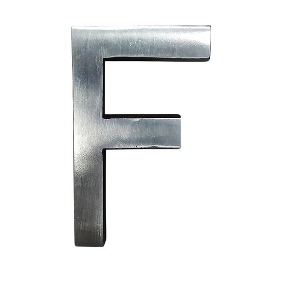 Letra de Alumínio Especial F 9cm - ALENCAR
