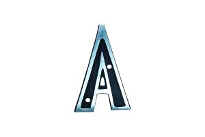 Letra Alumínio Colonial A 9cm - ALENCAR
