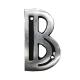 Letra de Alumínio Colonial B 9cm - ALENCAR