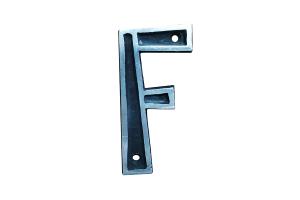 Letra de Alumínio Colonial F 9cm - ALENCAR
