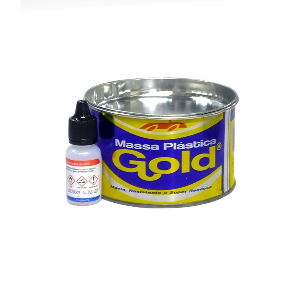 Kit Massa Plástica Branca 400g - GOLD