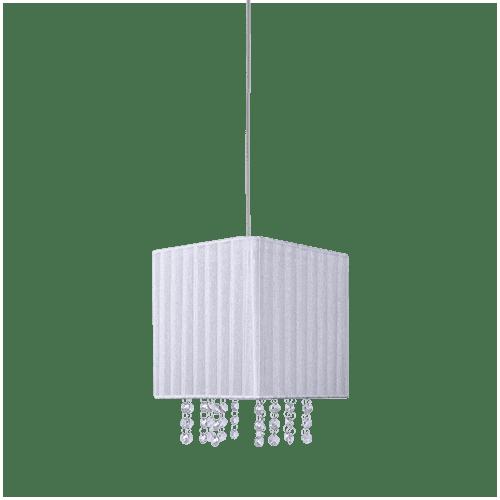 Pendente Cristal Dijon Square Branco 1XE14 - Avant