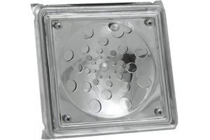 Ralo Quadrado c/ Caixilho 10x10 Inox 430 - Prinox