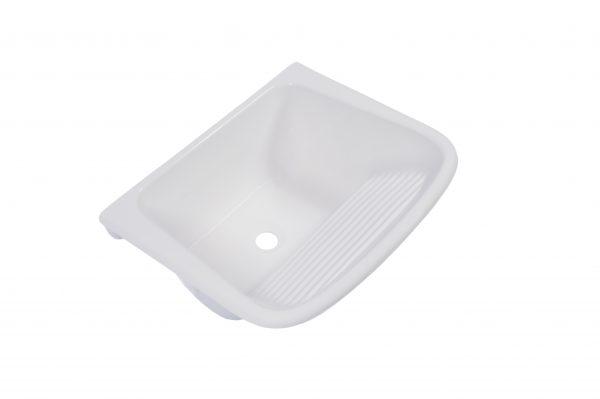 Tanque Marmore Simples Branco Gelo 60x50 - Decoralita