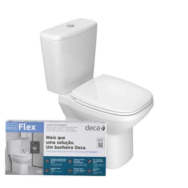 Kit Bacia c/ Caixa Acoplar + Acessorios Flex - Deca