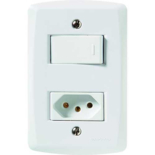 Interruptor Simples + Tomada 2P+T 10A/250V - Tramontina