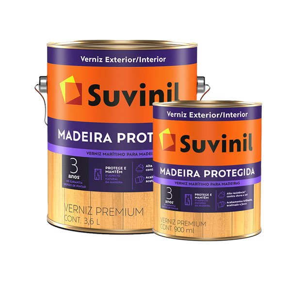 Verniz Marítimo Madeira Protegida Brilhante Natural 900ml/3,6L- Suvinil