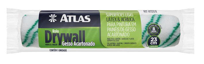 Rolo de Pintura Drywall 23cm AT321/8 - Atlas
