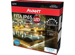 Fita LED Externa Amarela 3000K 1m 127V 14,4W/M - Avant