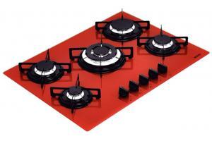 Cooktop Glass Vermelho Penta 5GG TRI 70 94708/281 - Tramontina