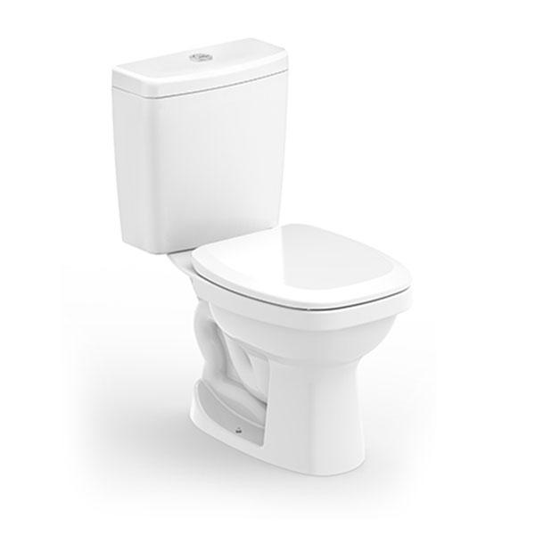 Kit  Bacia com Caixa Acoplada Like + Assento Sanitário Branco - Celite