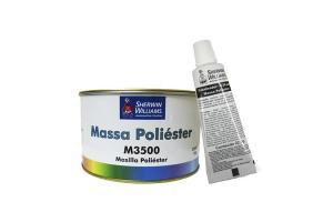 Kit Massa Poliester 750g - Lazzuril