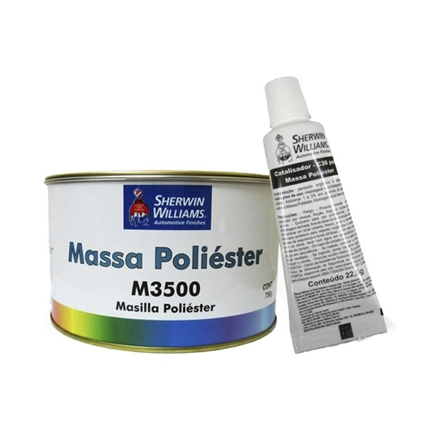 Kit Massa Poliester 750g - Lazzuril