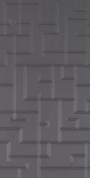 Porcelanato Acetinado Esmaltado Retificado Maze Grafite 32,5 x 66,5