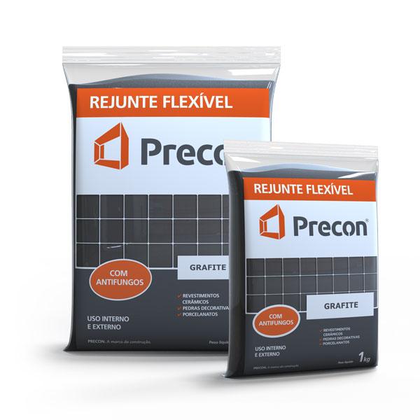Rejunte Flexivel 1kg Preto - PRECON