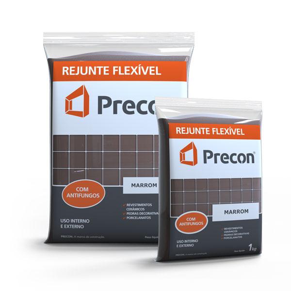 Rejunte Flexivel 1kg Marrom - PRECON